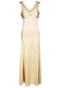Sukienka Fokus maxi w stylu glamour rozkloszowana