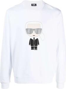 Sweter Karl Lagerfeld z okrągłym dekoltem w młodzieżowym stylu