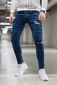 Granatowe jeansy Duuf
