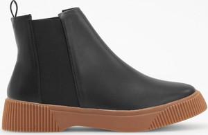 Czarne botki Reserved w stylu casual
