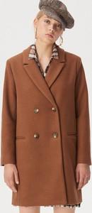 Brązowy płaszcz Sinsay