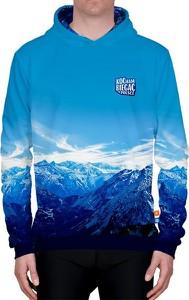 Niebieska bluza Power Canvas z bawełny