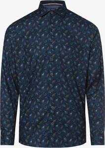 Granatowa koszula Olymp Casual Modern Fit z bawełny z długim rękawem