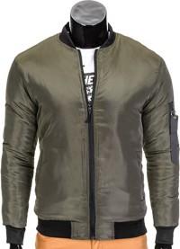 Ombre clothing kurtka męska przejściowa bomberka c336 - khaki