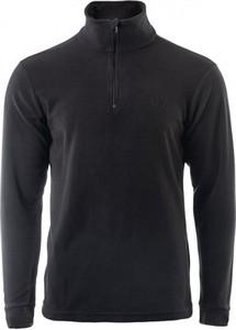 Czarna bluza sklepiguana w sportowym stylu z plaru