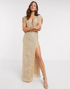 Złota sukienka Tfnc