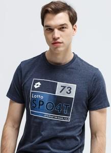 Niebieski t-shirt Lotto