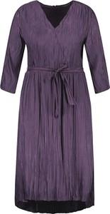 Fioletowa sukienka Samoon w stylu casual