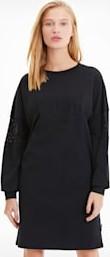 Czarna sukienka Puma oversize z bawełny