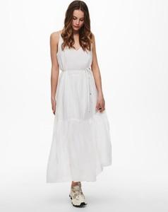 Sukienka WARESHOP maxi z dekoltem w kształcie litery v na ramiączkach