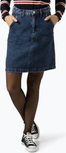 Niebieska spódnica Tommy Jeans mini z jeansu