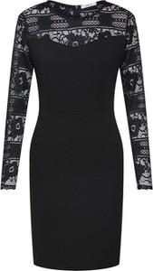 Czarna sukienka Haily's mini z okrągłym dekoltem