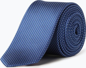 Niebieski krawat Olymp Level Five z jedwabiu