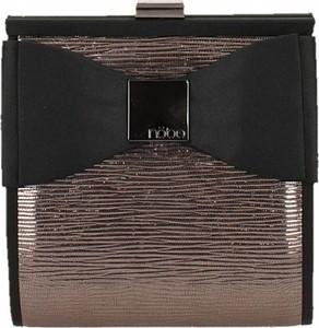 Brązowa torebka NOBO z kokardką do ręki lakierowana