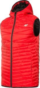 Czerwona kamizelka 4F w sportowym stylu