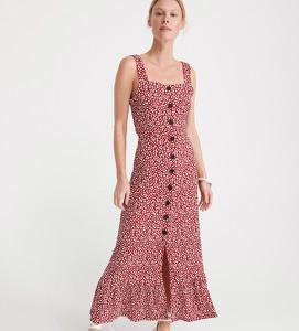 Czerwona sukienka Reserved w stylu casual maxi