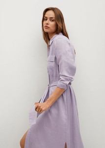 Sukienka Mango midi koszulowa w stylu casual