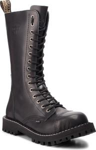 Buty zimowe Steel sznurowane w rockowym stylu