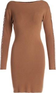 Sukienka Multu mini z okrągłym dekoltem dopasowana