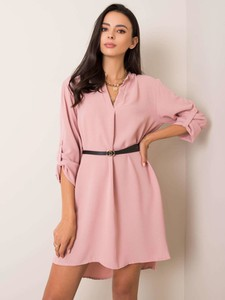 Sukienka Sheandher.pl z długim rękawem w stylu casual koszulowa