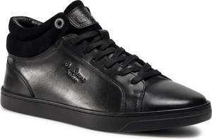 Pepe Jeans Sneakersy Doc Lth PMS30693 Czarny