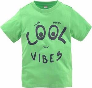 Zielona koszulka dziecięca bench z nadrukiem z dżerseju z krótkim rękawem