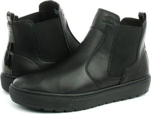Czarne botki Geox w stylu casual z płaską podeszwą