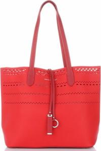 Czerwona torebka David Jones duża
