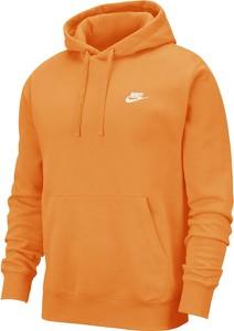 Pomarańczowa bluza Nike z plaru