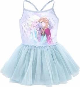 Błękitna sukienka dziewczęca disney z bawełny