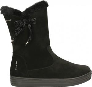 Czarne buty dziecięce zimowe Primigi z goretexu na zamek