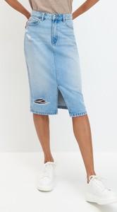 Spódnica Mohito midi z jeansu