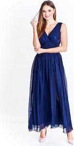 Niebieska sukienka Dejmieto