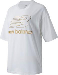 Bluzka New Balance z dzianiny z krótkim rękawem