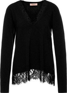 Czarny sweter Twinset w stylu casual