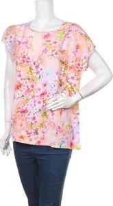 Bluzka Alba Moda z krótkim rękawem z okrągłym dekoltem