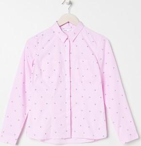 Różowa koszula Sinsay w stylu casual z długim rękawem