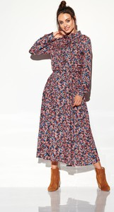 Sukienka Lemoniade szmizjerka z długim rękawem maxi