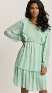 Sukienka Renee w stylu casual mini z okrągłym dekoltem