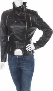 Czarna kurtka Clocolor w stylu casual ze skóry