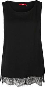 Czarna bluzka S.Oliver bez rękawów