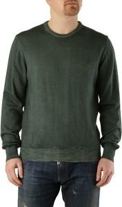 Zielony sweter Conte of Florence z wełny w stylu casual