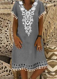 Sukienka Cikelly mini z dekoltem w kształcie litery v w stylu casual