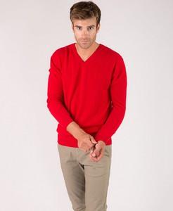 Czerwony sweter Just Cashmere z kaszmiru