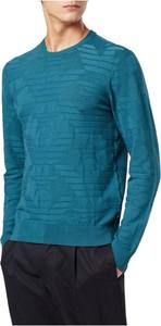 Sweter Emporio Armani z okrągłym dekoltem w stylu casual