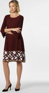 Czerwona sukienka S.Oliver Black Label z okrągłym dekoltem