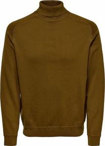 Zielony sweter Only & Sons w stylu casual z bawełny