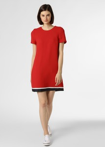 Czerwona sukienka Tommy Hilfiger z okrągłym dekoltem