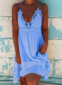 Niebieska sukienka Sandbella mini