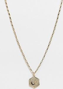 Reclaimed Vintage Inspired – Naszyjnik w kolorze złotym z wisiorkiem z motywem księżyca i gwiazd-Wielokolorowy